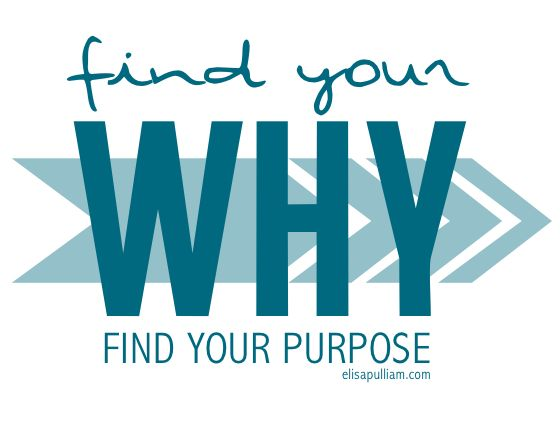 "Did you know that your ""why"" is what motivates you into action with a God-given passion? So how about finding your why to determine your what!"