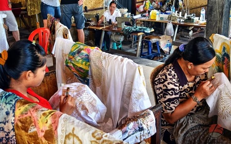 Tohpati Village on Bali is the center of the creative batik art.
