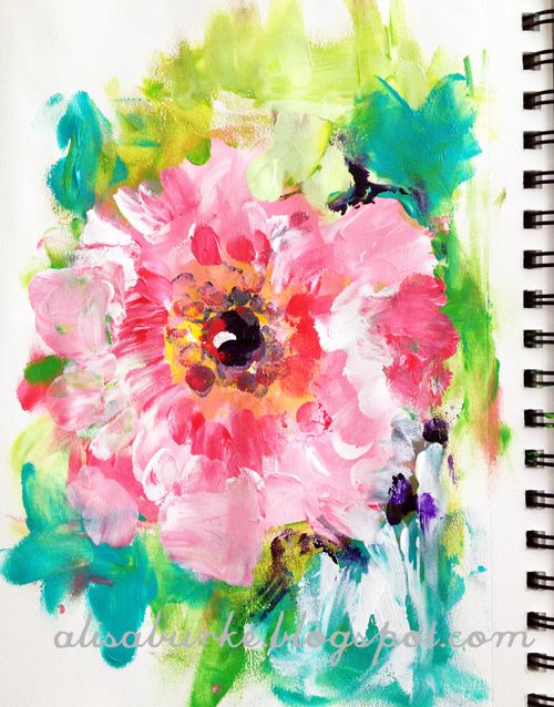 Flower art....done with finger painting. Pretty awesome.