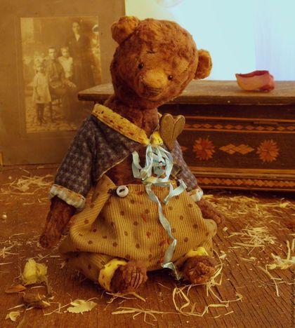 Купить Гастон Мед - коричневый, мишка, мишка тедди, мишка ручной работы, медведь, медвежонок