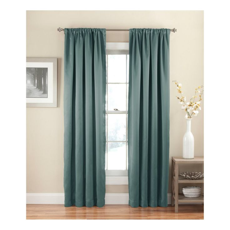 Eclipse Solid Thermapanel Room - Darkening Curtain River Blue 54X84