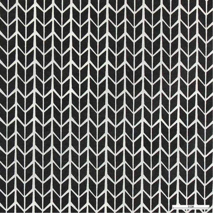 Tekstilvoksdug m koksgrå pile mønster - Stoff & Stil