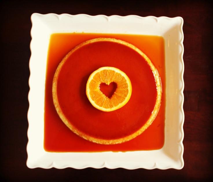 Flan de Naranja {Orange Flan} | Orange Tuesdays | Pinterest