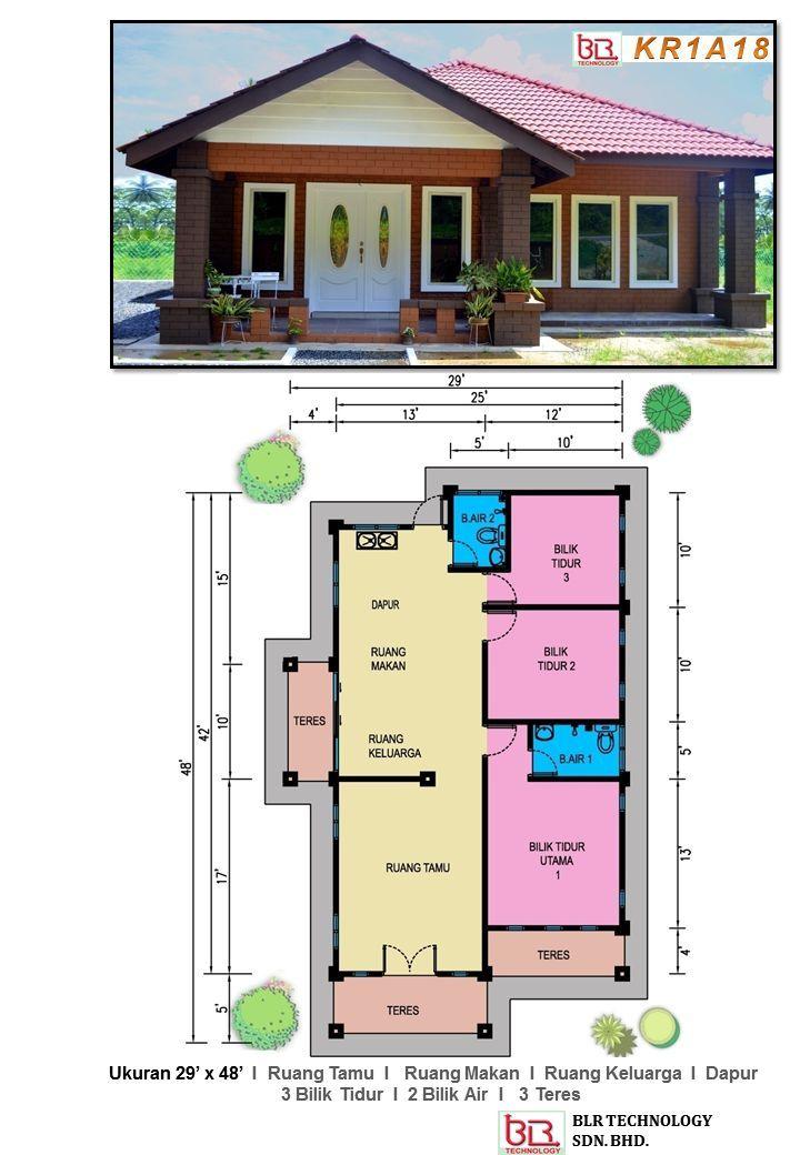 Plan Rumah Kampung 3 Bilik Google Search Tata Letak Rumah Desain Rumah Kecil Desain Rumah Desa