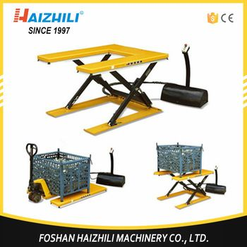 U shape low-type scissor electric lift table for sale