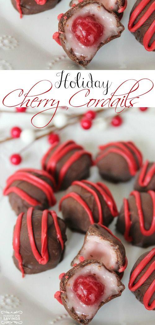 Easy Homemade Cherry Cordails Recipe! Love this Easy Christmas Dessert Recipe for Christmas parties!