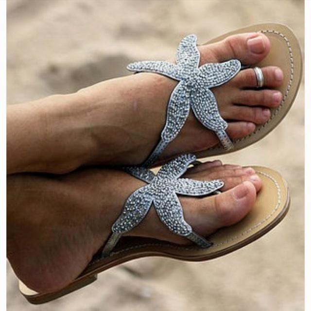Starfish beaded sandal. WANT!!!