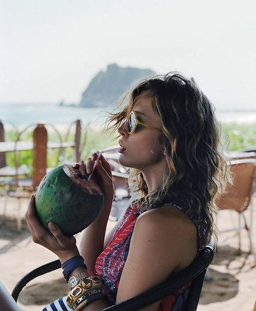 This is what I WISH i was doing this morning... She looks so enlightened and self aware.... And I feel.... Well, I want some juice sucked outta a fruit.