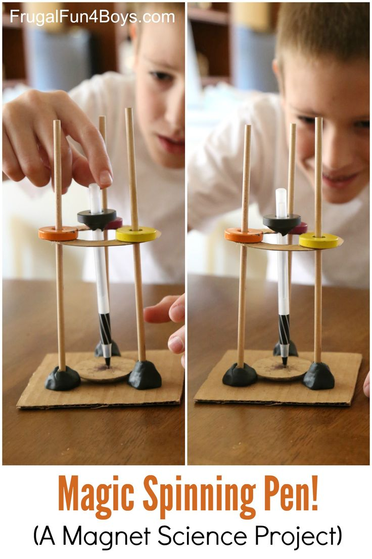 Magic Spinning Pen - A Magnet Science Experiment for Kids - great to explore magnetism with kids!