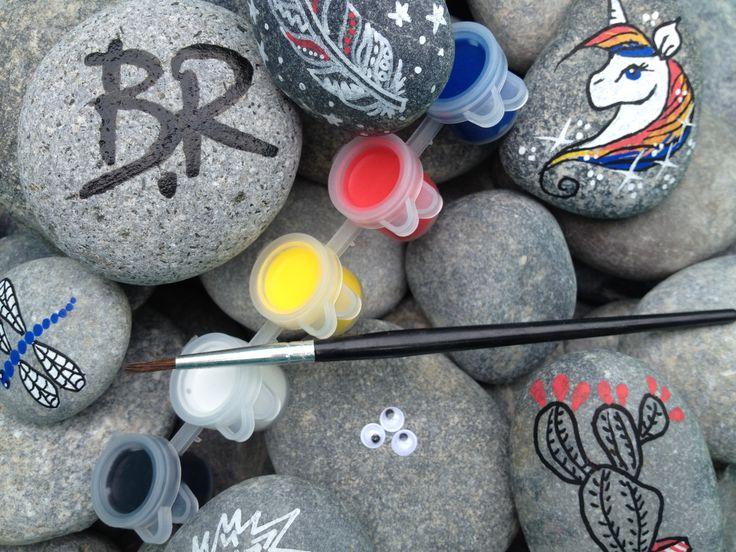 Rock breaking paintings! Breaking Rocks DIY pebbles stones painting kit.  #breakingrocks #DIY #artsandcrafts #artandcraft #painting #allages #stones #rockart #rockartist #colorful #pebbles #riverstones