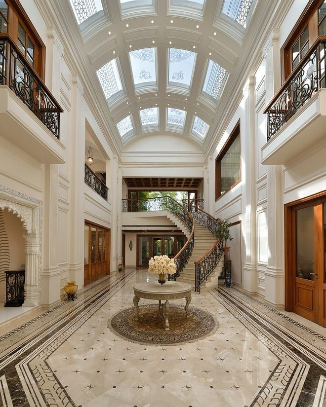 Incredible Foyer Of A Delhi India Home By 42 Mm Architecture Architects Building Designers India Luxury Houses Mansions Mansion Interior Mansions Luxury