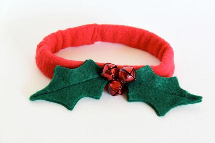 Holly Leaf Christmas Dog Collar | DIY Craft Projects | DIY