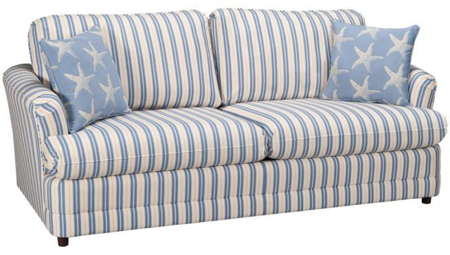 Capris   Y/B Stripe   Queen Sleeper Sofa   Jordanu0027s Furniture | New  England Beachy/Coastal Design | Pinterest | Sleeper Sofas, Capri And Sofa  Sleeper