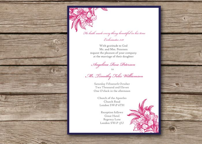 11 best christian wedding invitation wording images on pinterest, Wedding invitations