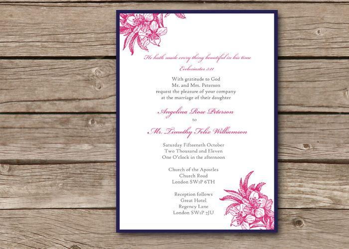 11 best christian wedding invitation wording images on Pinterest
