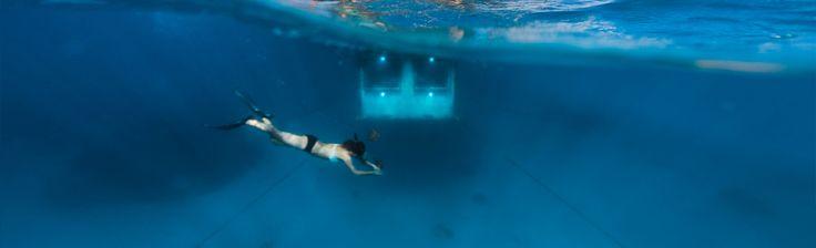 Sleeping with the fish! @underwaterroom.com