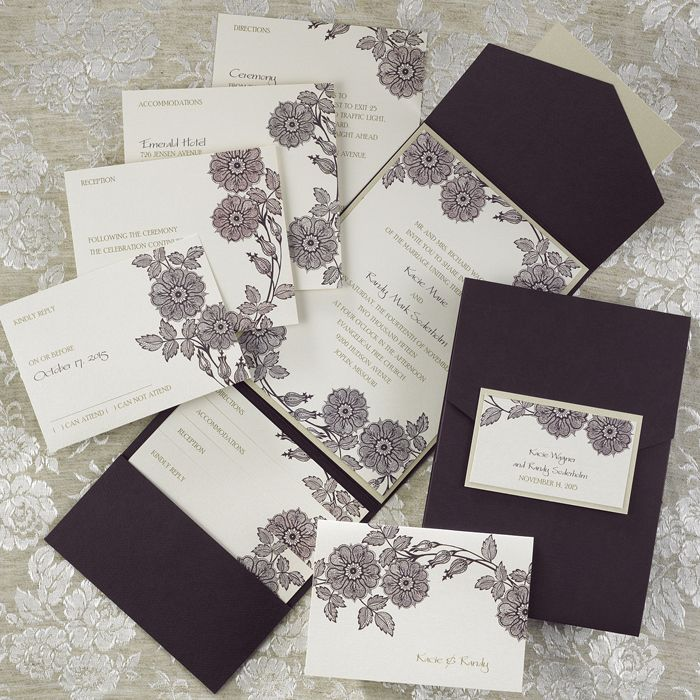 purple white silver wedding invitations%0A Image result for wedding invitations pocket