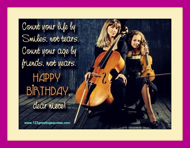 Awesome Happy Birthday Niece E - Greeting Cards Pictures Images