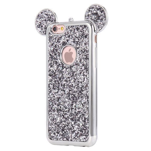 Fashion 3D Mickey Mouse Case For Iphone 6 6S 7 Plus 5S Rhinestone Glitter Silicone Case Coque For Iphone 6S Plus Luxury Cover #iphone6scase,