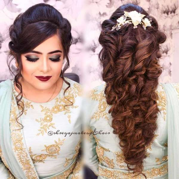 Top 2018 Indian Bridal Hairstyles For Your Wedding Day Indian Bridal Hairstyles Bridal Hairstyle Indian Wedding Hair Styles