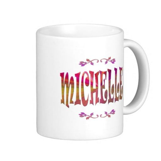 "It has taken years but my retro designs for the ""What's in a Name"" product line are selling on a regular basis. Did you know #Michelle means ""Who resembles G-d"" and this #name is of French as well as Hebrew origin?  #coffee #mugs #Retro"