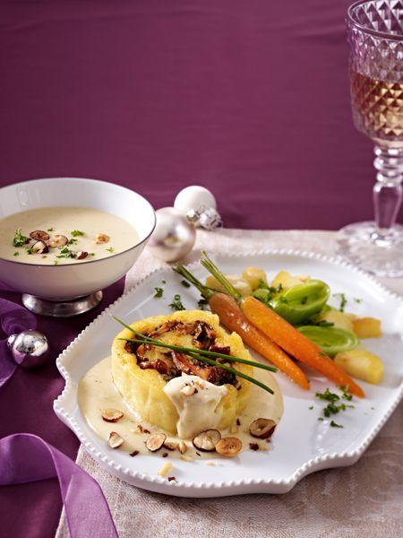 Wir feiern Weihnachten vegetarisch. Und servieren ein vegetarisches Weihnachtsessen. Von der Vorspeise bis zum Dessert - diese