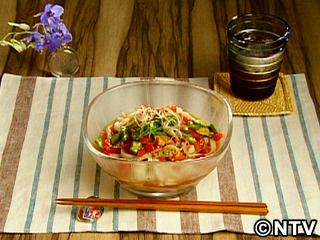 トマトとオクラのぶっかけうどん Bukkake Cold Udon of okra and tomatoes QP Kewpie NTV  2010年07月19日