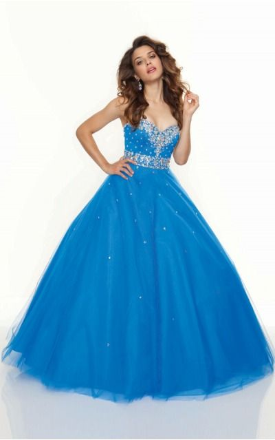 Sweetheart Sleeveless Ball Gown Lace-up Floor-length Evening Dresses afaa307116