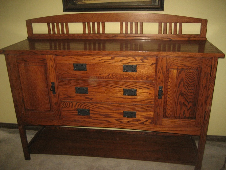 Early restoration hardware mission oak arts & crafts sideboard buffet table - 16 Best Walnut Credenza Images On Pinterest Credenza, Craftsman