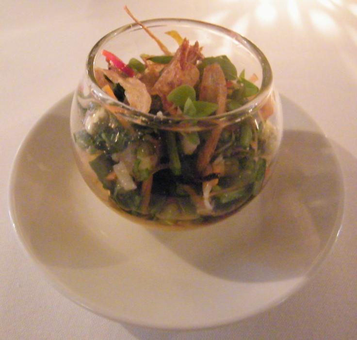 Vietnamese salad & ginger cream