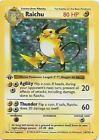 Raichu 1st Edition Shadowless Holo 14/102 Base Set Rare Pokemon Card  LP