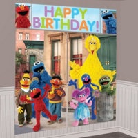 Sesame Street Scene Setter $6.  I have been looking all over something for this and the party is the weekend!