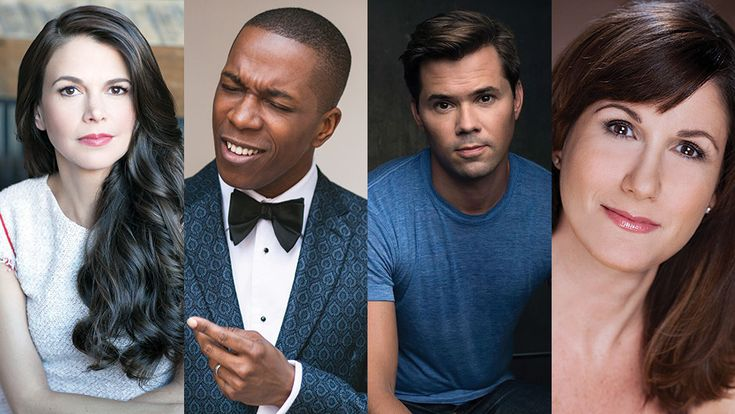 Sutton Foster, Leslie Odom Jr., Andrew Rannells, and Stephanie J. Block