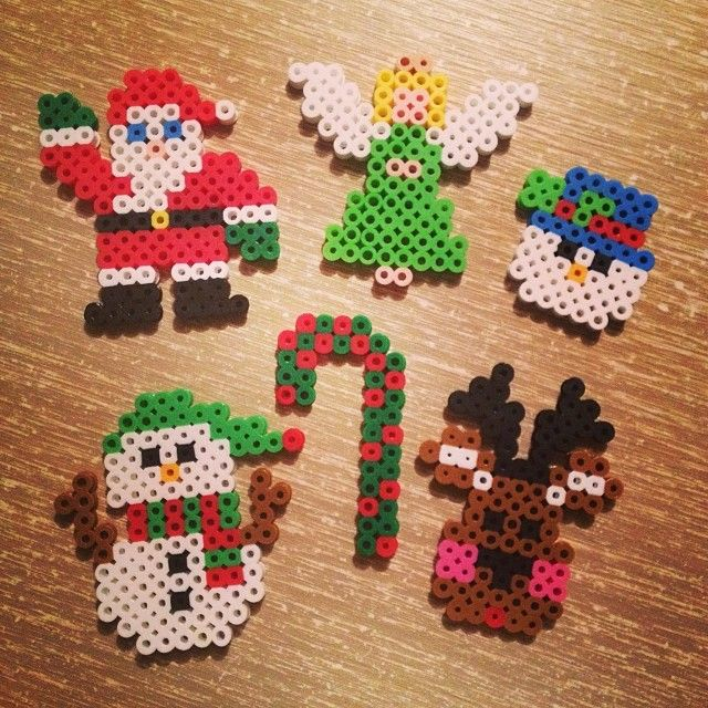Christmas decorations perler beads by cara_kitty