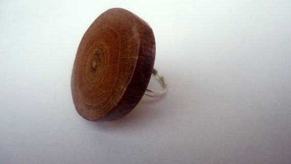 wooden ring wood oak ring rustic ring natural organic ring wooden slices ring on Etsy, £12.27