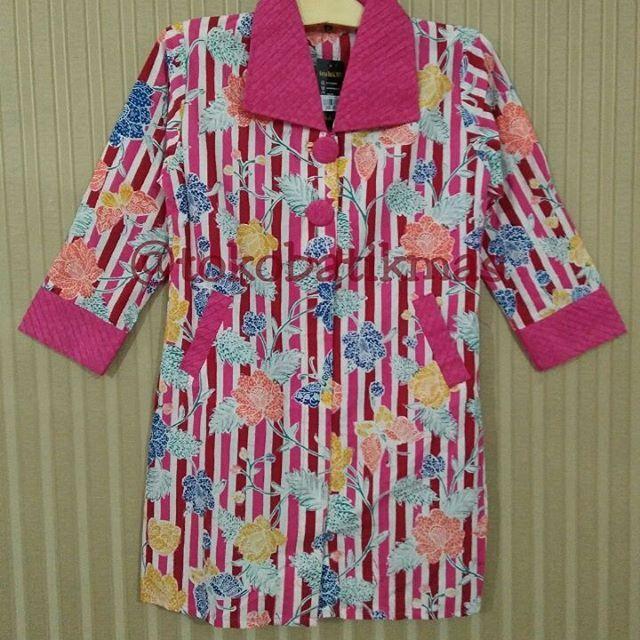 Dress Garis  Kain Batik Encim Garis  Size M  IDR 155.000