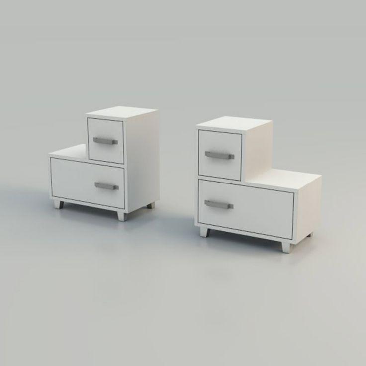 Due cassetti per LC 50 di Letti&Co. Disegnato da Paola Navone, ha la struttura in #noce canaletto e si può scegliere in due finiture: laccato bianco, grigio o noce canaletto verniciato naturale. Misura L 52 x P 30 x H 54 cm