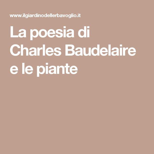 La poesia di Charles Baudelaire e le piante