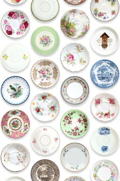Porcelain Saucer Wallpaper by Studio Ditte