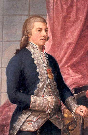 1790 Portrait of Manuel Godoy - Francisco Bayeu y Subias. Rococó
