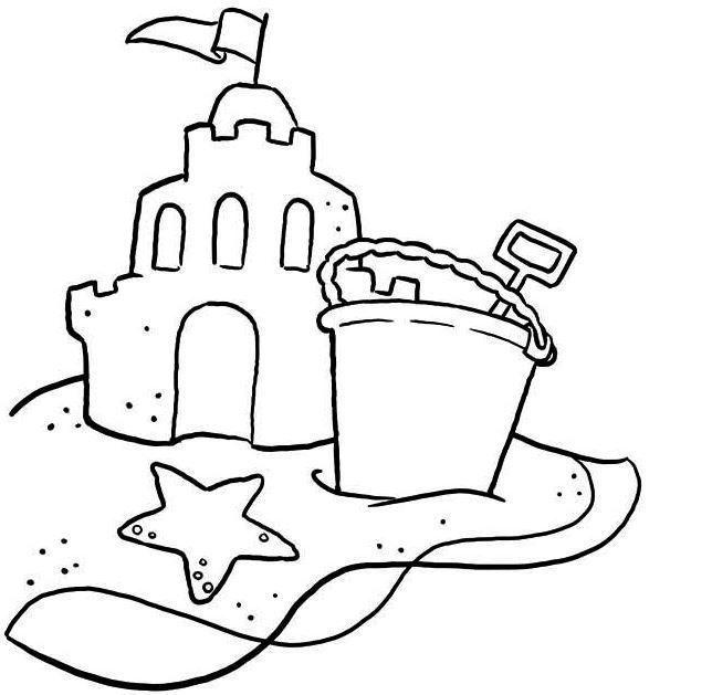 Sandcastle Coloring Page Castle Coloring Page Coloring Pages Beach Coloring Pages