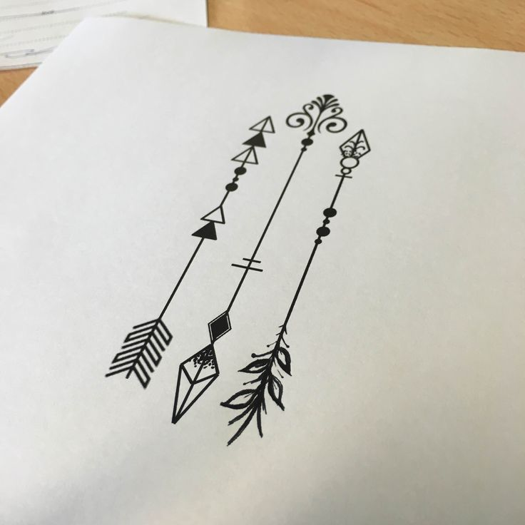 Three arrows tattoo - own design
