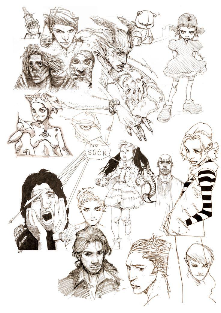character sketch, yasu _ on ArtStation at https://www.artstation.com/artwork/nBOzo