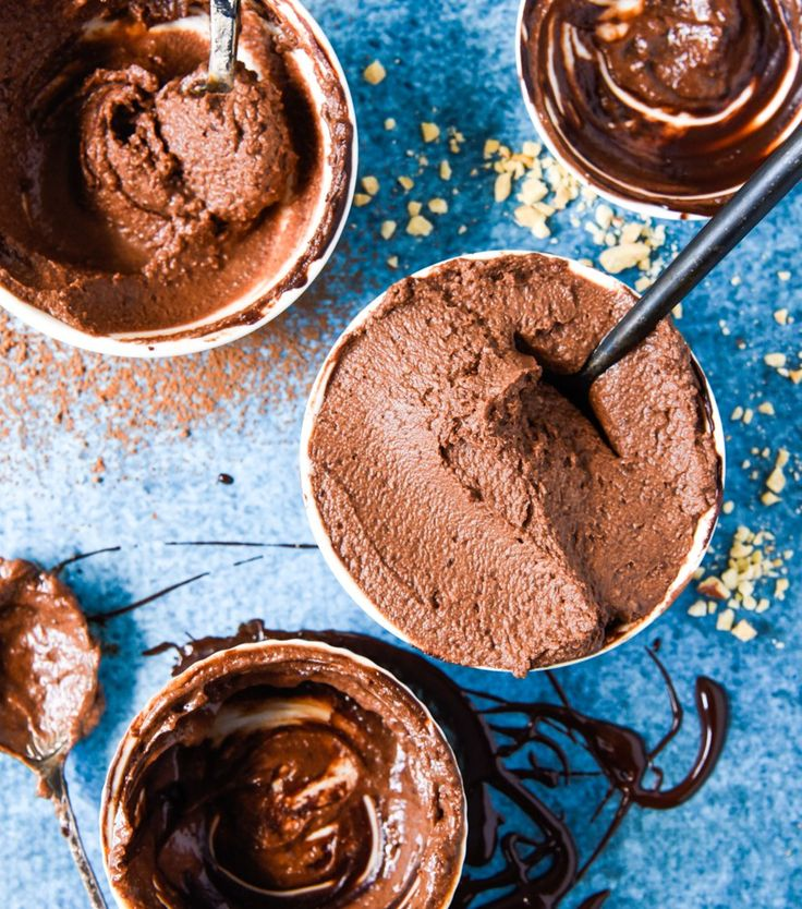 Quick and Easy Chocolate Mousse. Simple, delicious and free from gluten, grains, dairy, egg, nuts and refined sugar. Enjoy.