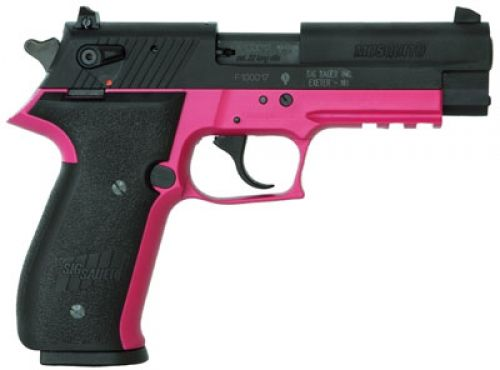 If I ever had to have a gun, I would most definitely want a pretty one! Lol    Sig .22 pink pistol gun
