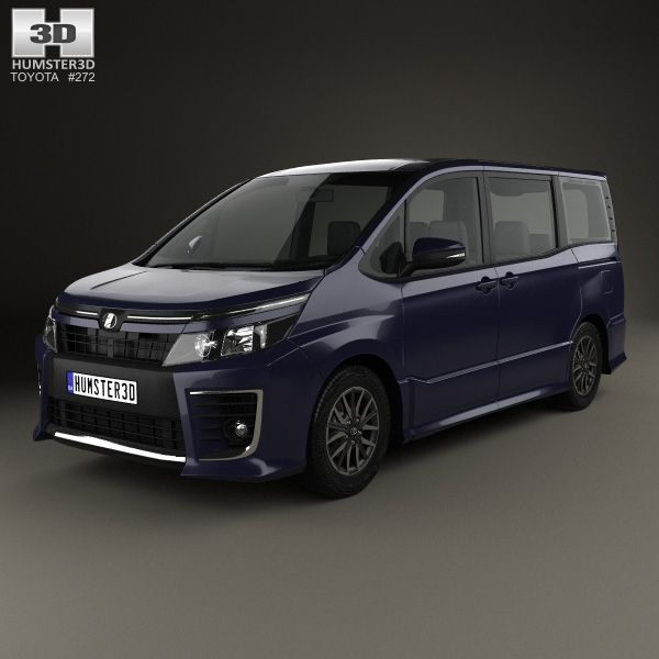 Toyota Voxy ZS 2014 3d model from Humster3D.com.