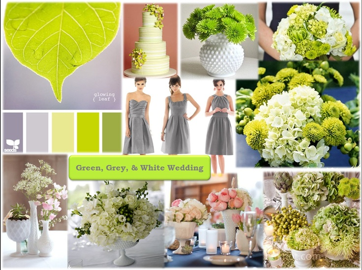 purple grey and green wedding colors