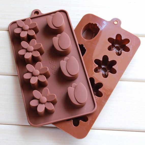 8 Tulip Daisy Flower Silicone cake mold chocolate mold by funzHome