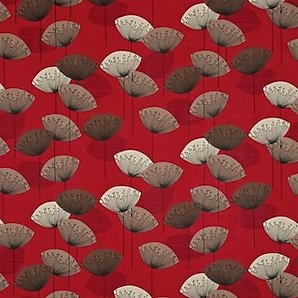 Red, Clocks Fabrics, Art Pattern, Sanderson Dandelions, Dandelions Clocks, Floors Cushions, John Lewis, Fabrics Design, Floor Cushions