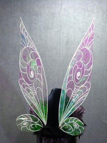 These are the most popular wings. They are also the most difficult to make. They have four strong inner wire supports that are permanently a...